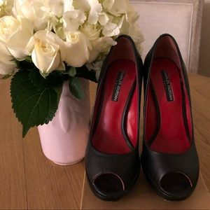 Authentic Charles Jourdan Peep Toe Platform Heels
